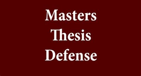 How to conduct a good thesis presentation within 5 days